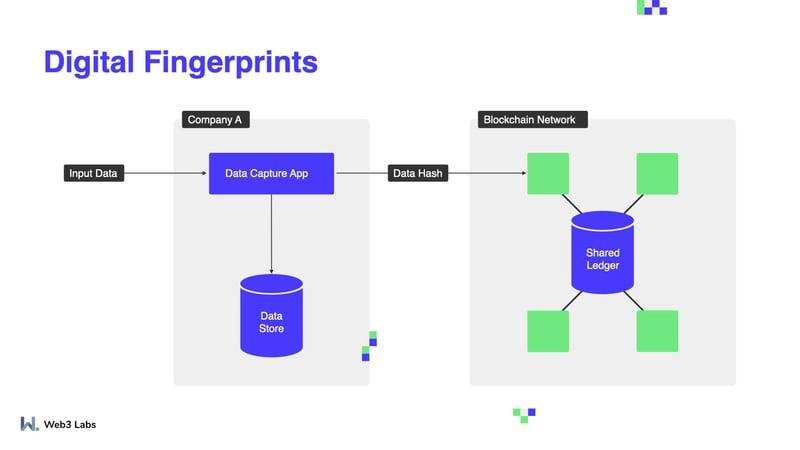 Digital Fingerprint on blockchain