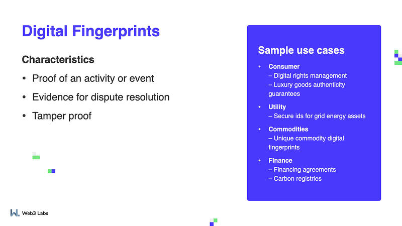 Digital fingerprint use caess