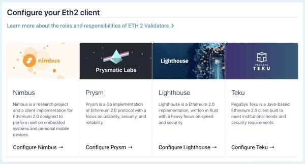 Configure your Eth2 client