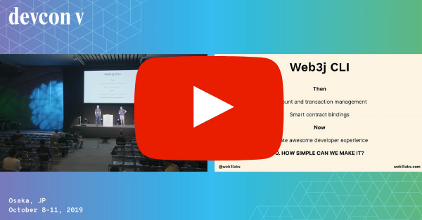 The Web3j-SDK by Conor Svensson & Ivaylo Kirilov (Devcon5)